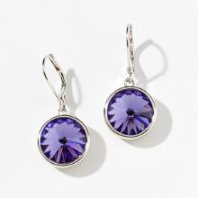 Lulu Earrings, Dark Purple