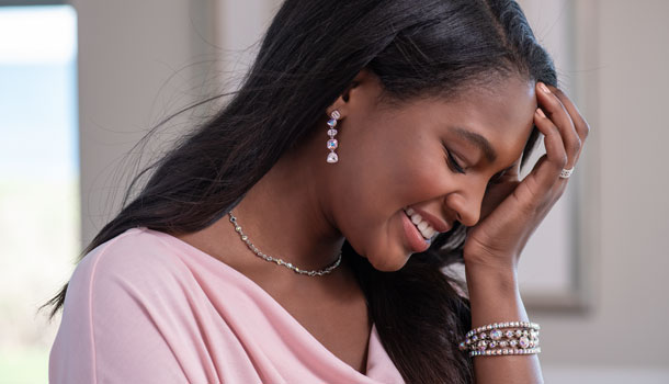Woman wearing Fabulousity Earrings